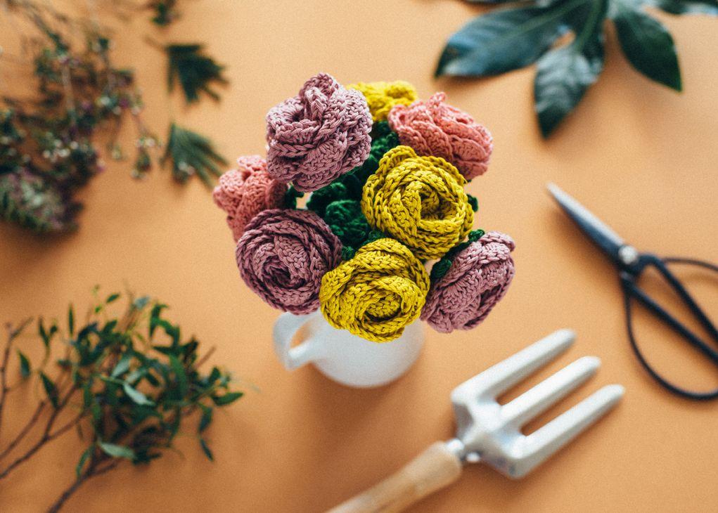 Ramo de flores (El blog de DMC - El Club del Patrón) | Ganchillo ...