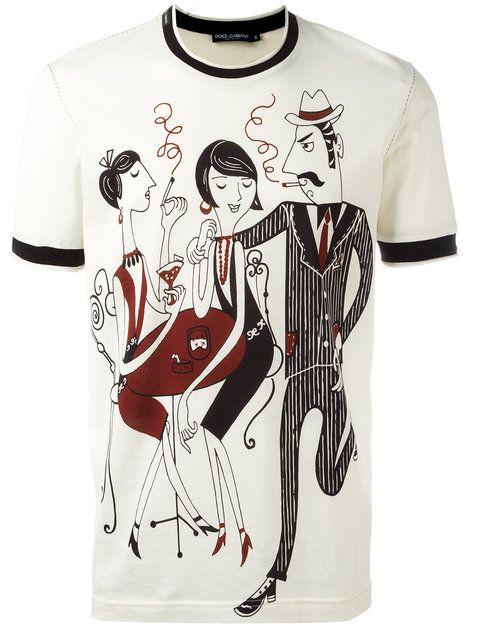 f1bc3a6097e DOLCE & GABBANA jazz club print T-shirt. #dolcegabbana #cloth #t ...