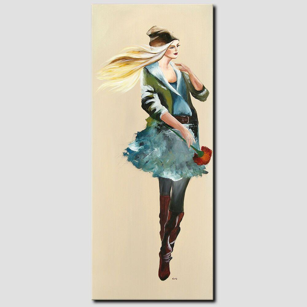 Novaarte Acryl Gemalde Abstrakte Kunst Modell Frau Bild Malerei
