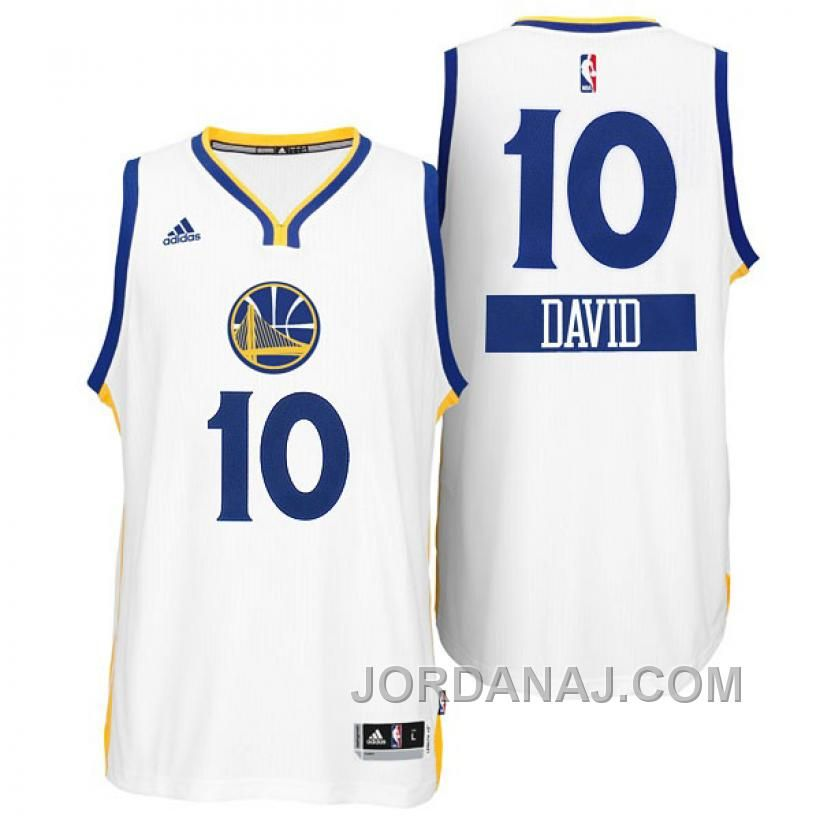 825276fe129 David Lee Golden State Warriors  10 Christmas Day X-mas Big Logo Swingman  White Jersey