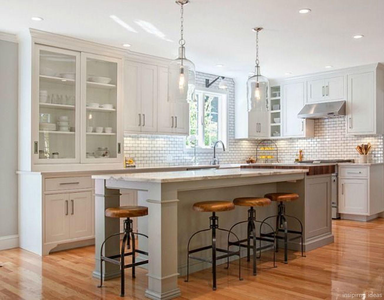 White with creamy beige granite countertops, dove