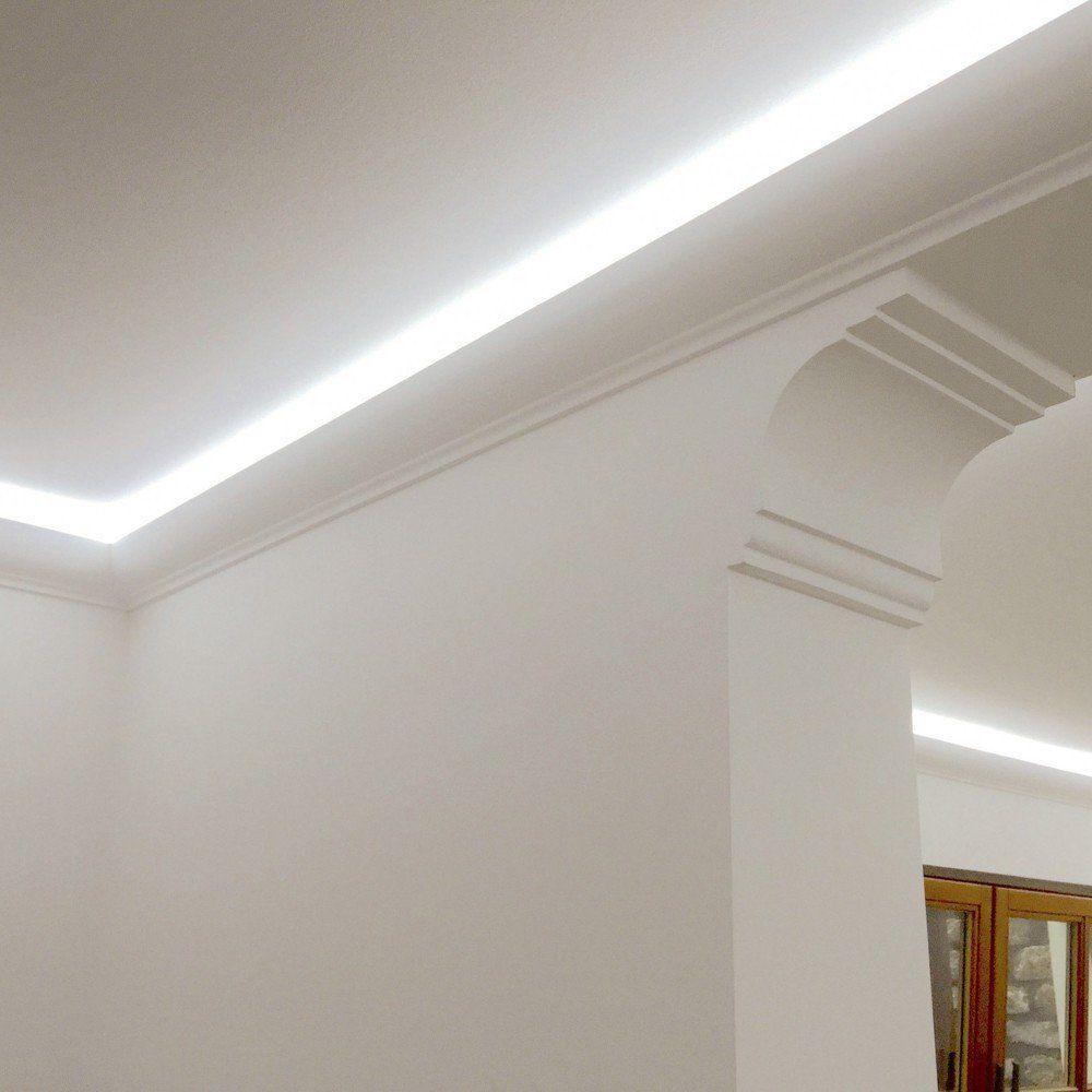 Ddekor Stuckleiste rund für LED-Strips / 10 Meter: Amazon.de ...