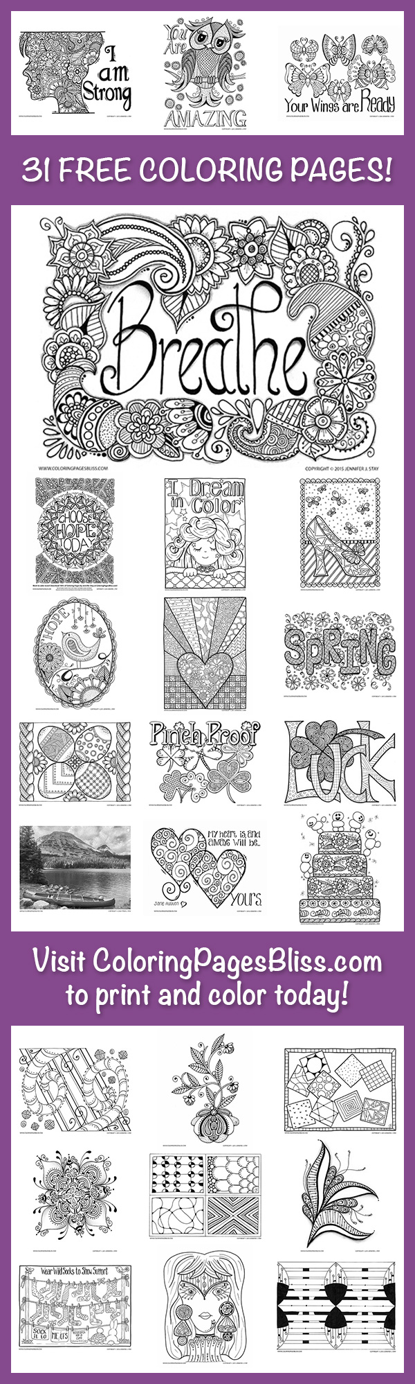 Download 31 Free Coloring Pages!   Colorear