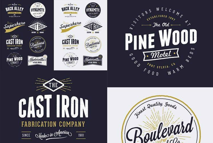 15 Free Vintage Logo & Badge Template Collections | Logo ...