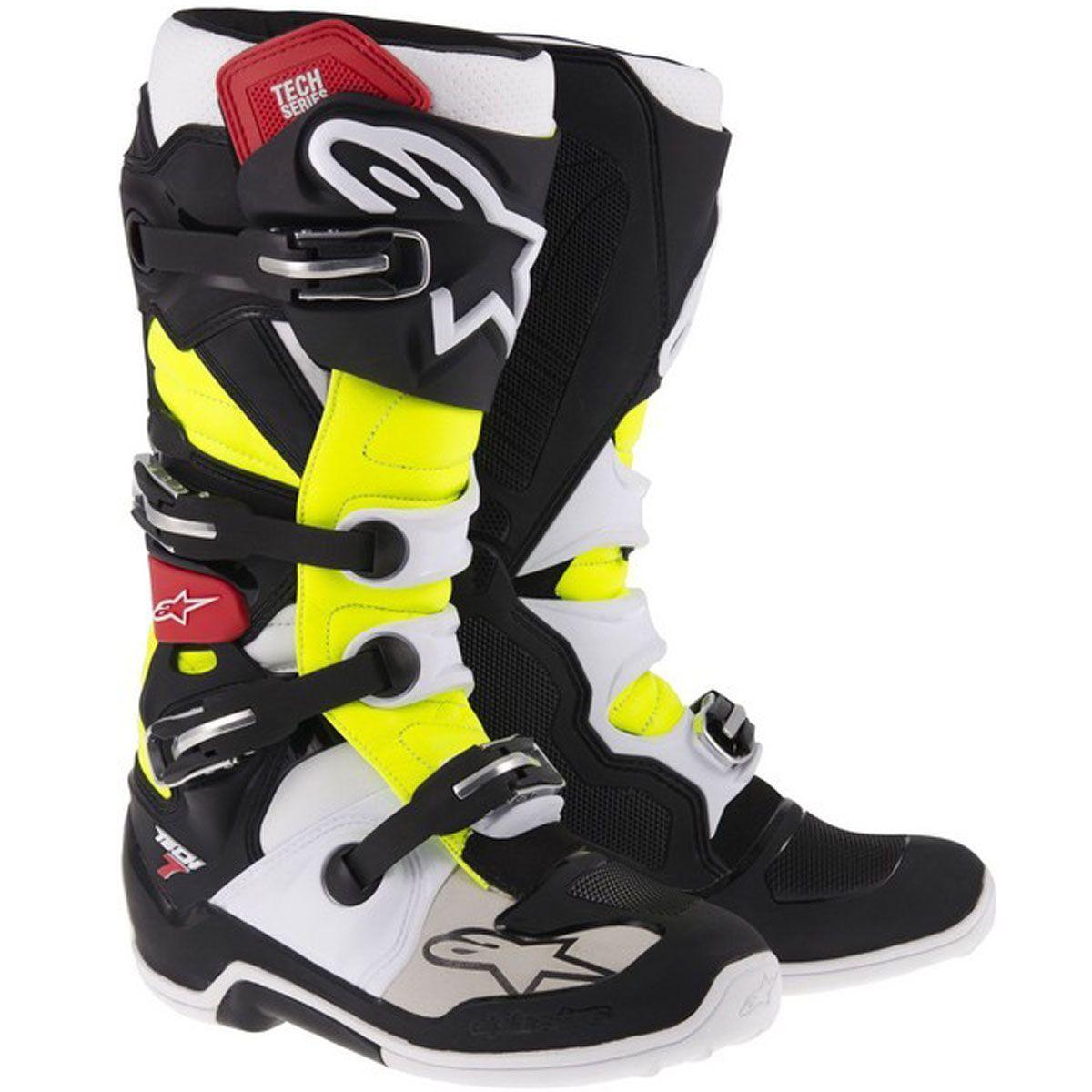 Alpinestars Motocross-Stiefel Tech 7 Schwarz