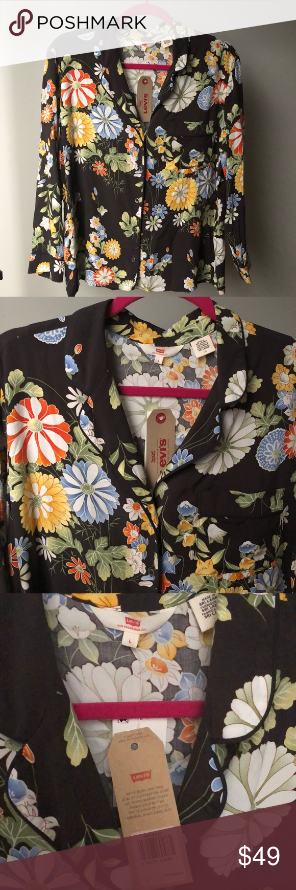 Levius floral top nwt in my posh picks pinterest floral