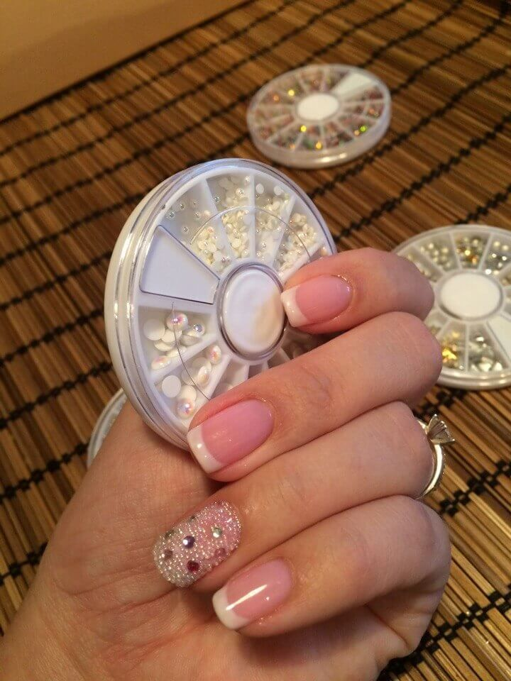 Options for decorating the nail design. | Orange nail designs ...
