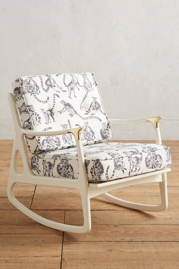 Astounding Anthropologie Lemur Printed Haverhill Rocking Chair Onthecornerstone Fun Painted Chair Ideas Images Onthecornerstoneorg