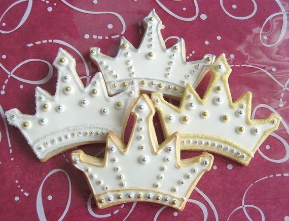 Princess Crown Tiara Cookie Favors Crown Tiara by lorisplace #crowntiara