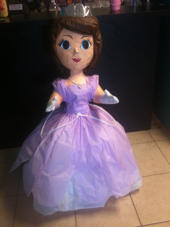 Sofia the First Pinata by TheFabPartyShop on Etsy, $45.00