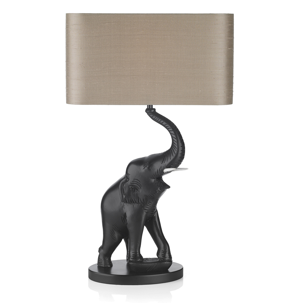 Tantor black elephant table lamp base only black lighting tantor black elephant table lamp base only geotapseo Images