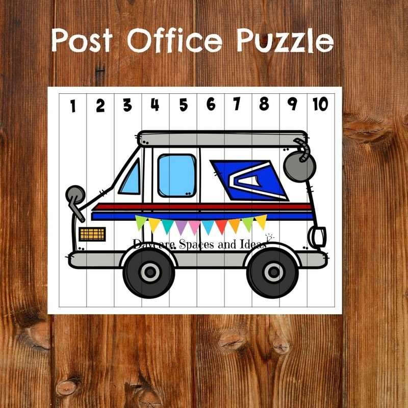 Post Office Activity Pack Community helpers preschool