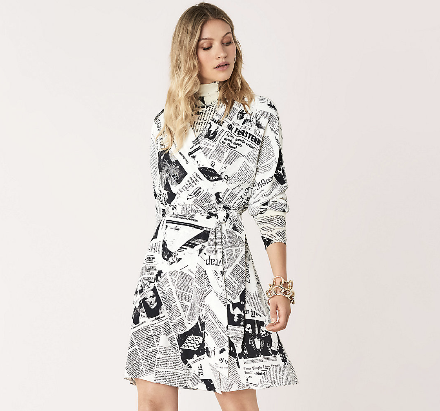 Diane Von Furstenberg Wrap Dress With Turtleneck Diane Von Furstenberg Wrap Dress Wrap Dress Dresses [ 1588 x 1702 Pixel ]