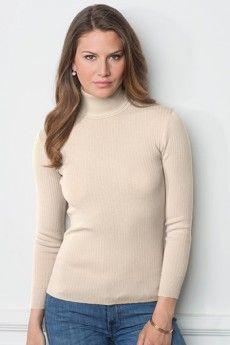 8d68b94117c5 Le pull chaussette femme col roulé mastic. Pure laine vierge mérinos. Fabrication  française.