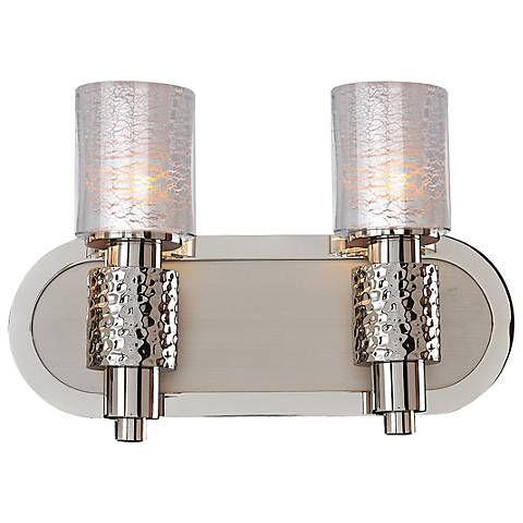 Ashington 8 1/2  High Satin Nickel 2-Light Wall Sconce - Style # 7C030  sc 1 st  Pinterest & Ashington 8 1/2