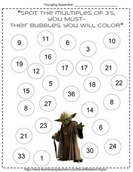 Star Wars Themed3rd Grade Math WorksheetsActivities IncludedBubble ...