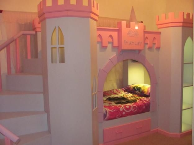 To build | Castle beds for girls, Castle bed, Girls bunk beds