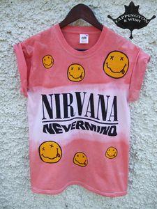 Image of Dip Tie Dye Nirvana Shirt