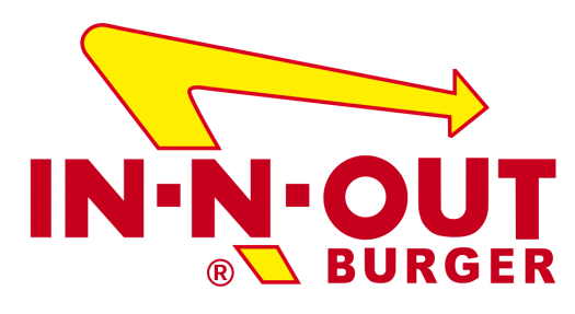 In N Out Burger Logo In And Out Burger Fast Food Restaurant In N Out Burger