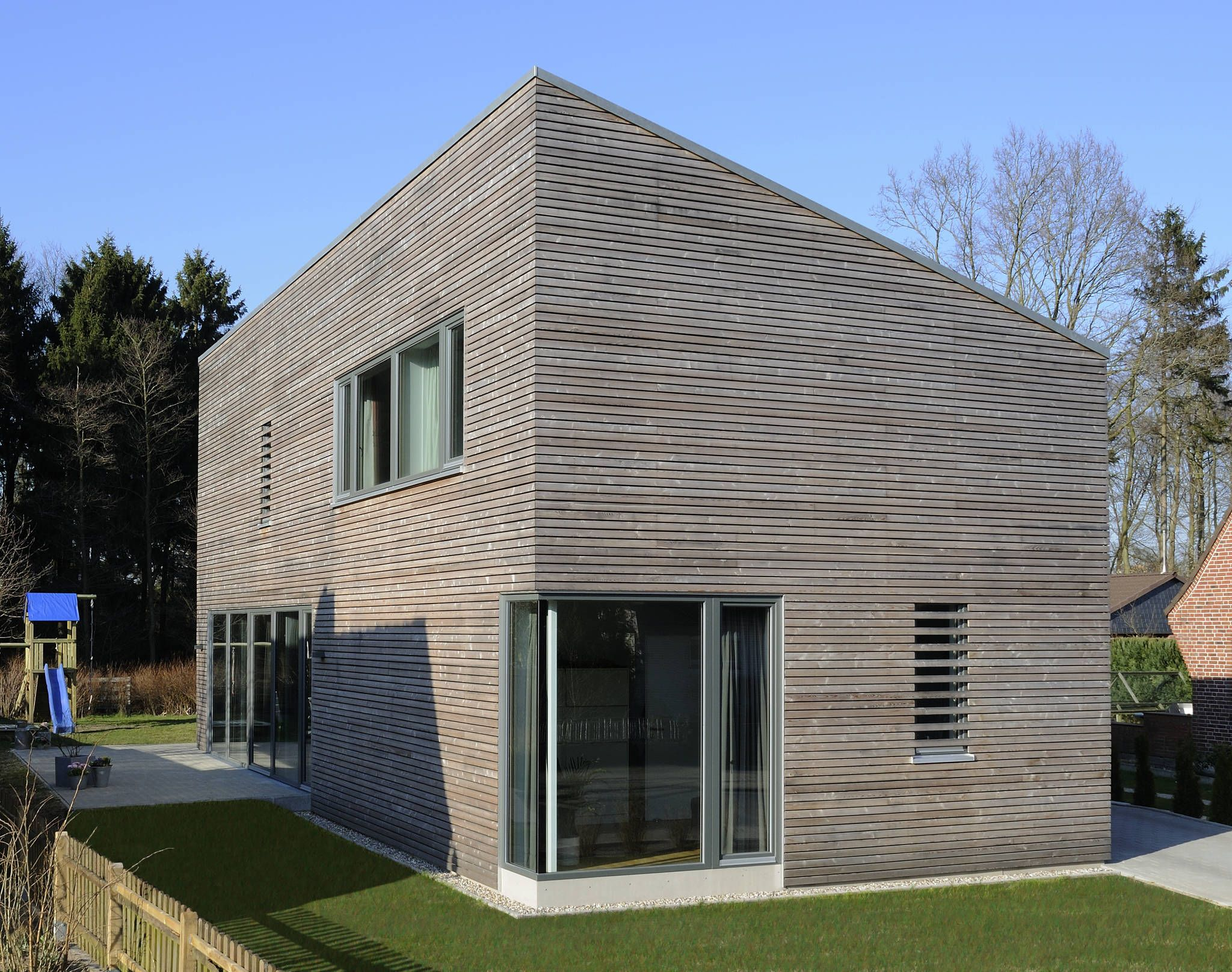 Moderne holzhäuser architektur  Moderne Häuser Bilder: Ansicht Giebel | Moderne häuser, Ansicht ...