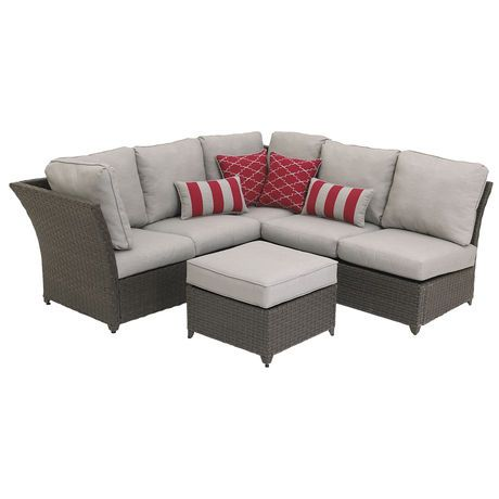 Hometrends Rushreed 3 Piece Sectional Sofa Patio Set Walmart Ca