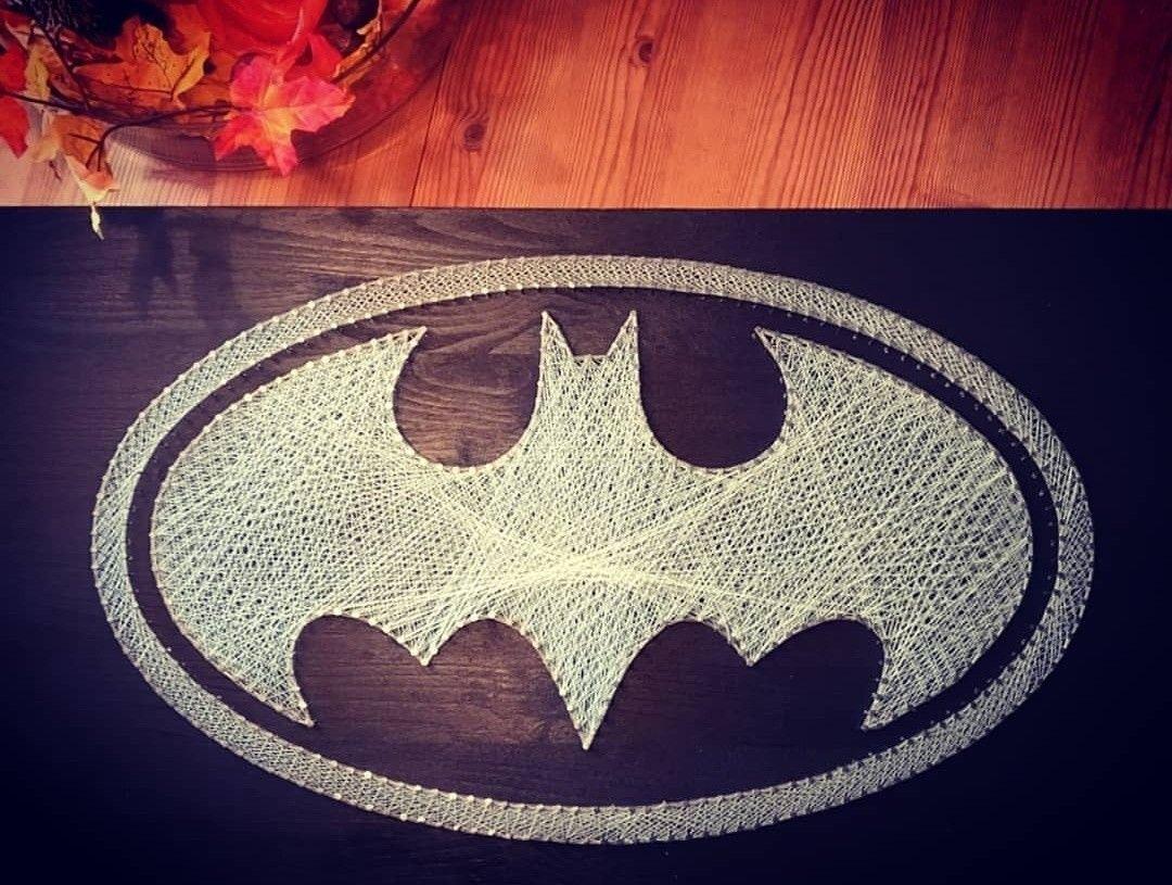 Batman String Art Fadenkunst Logo Nagelbild | Selfmade | Pinterest