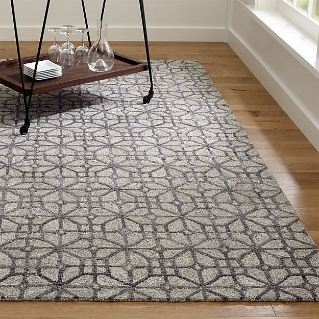Shop Rhea Graphite Lattice Pattern Rug The Intricate Geometry Of Chinese Lattice Carvings Softens And Updates As A Room Frie Lattice Pattern Rug Pattern Rugs