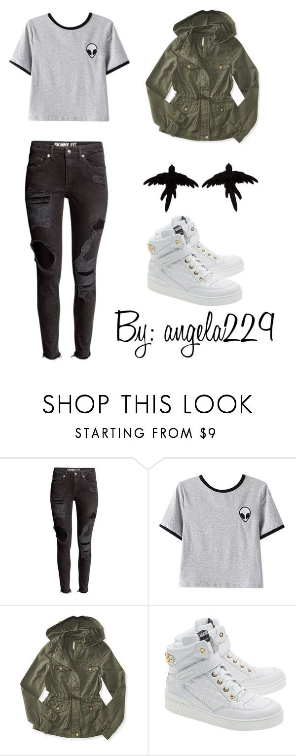 """Alien :o"" by angela229 ❤ liked on Polyvore featuring Chicnova Fashion, Aéropostale, Moschino and olgafacesrok"