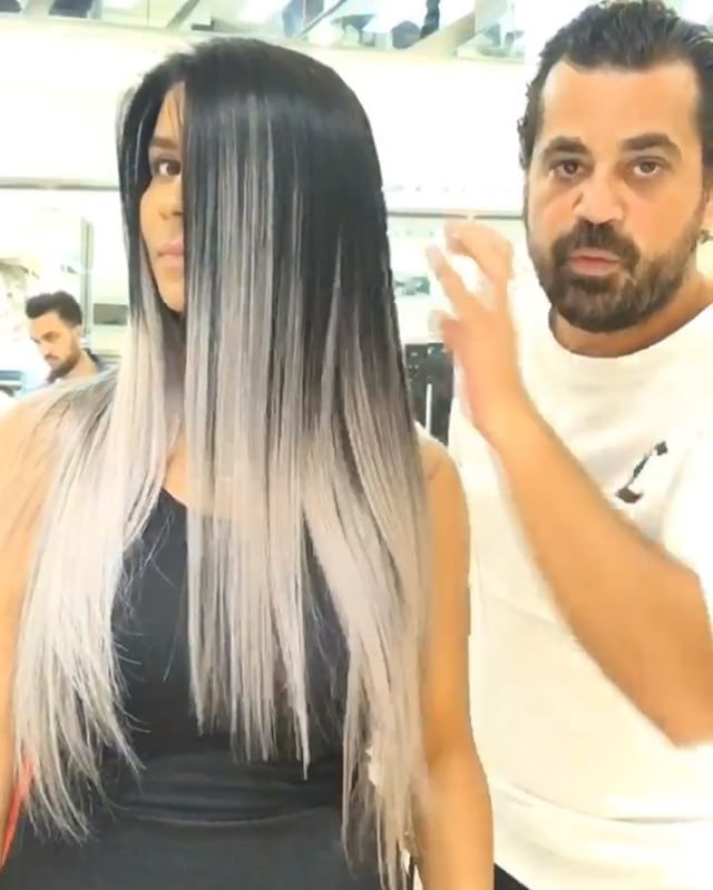 Salt And Pepper Color Hair Color Transformation By Mouniiiir Human