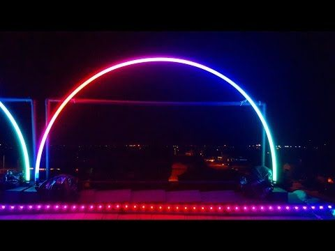 Part 1: How to build a Leaping Arch for an outdoor Christmas light show -  YouTube - Part 1: How To Build A Leaping Arch For An Outdoor Christmas Light