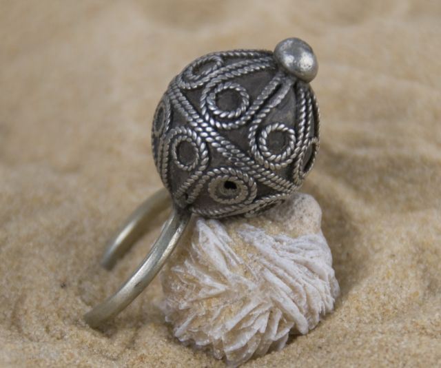 Old Berber Pure Silver Hand Made