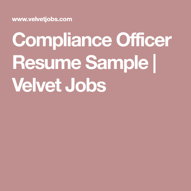Compliance Resume Delectable Compliance Officer Resume Sample