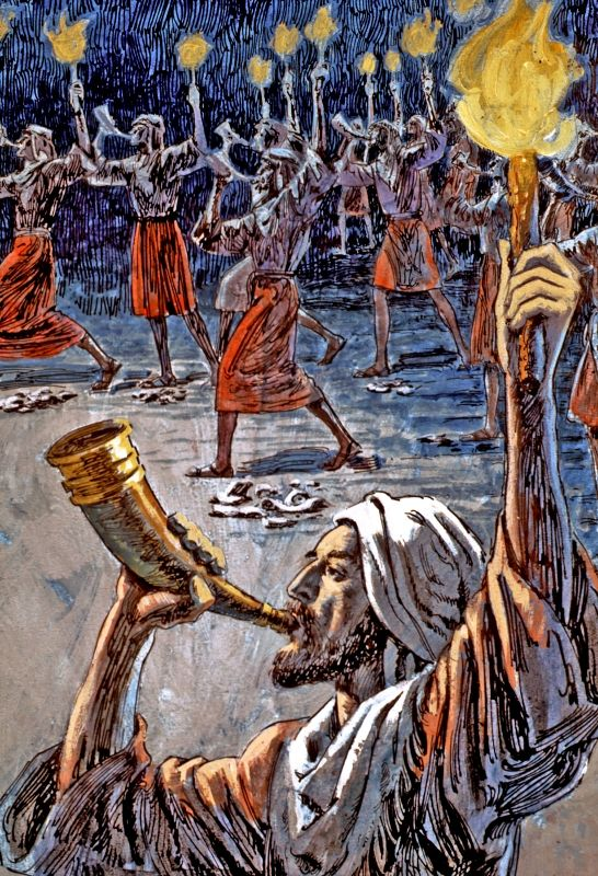 With 300 soldiers, Gideon obeyed the Lord and defeated the ...