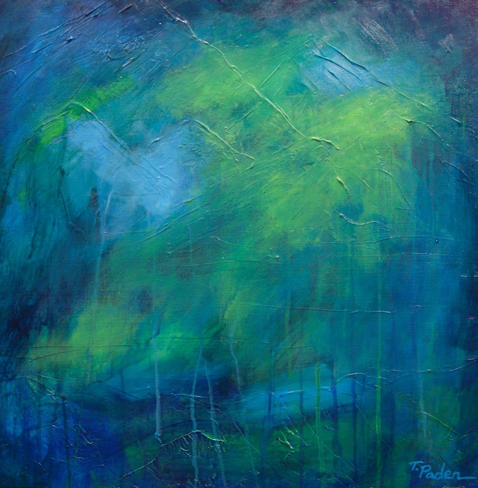 "Theresa Paden ""inside the rain forest"" 20 x 20"" #abstract #abstractart #abstractpainting"