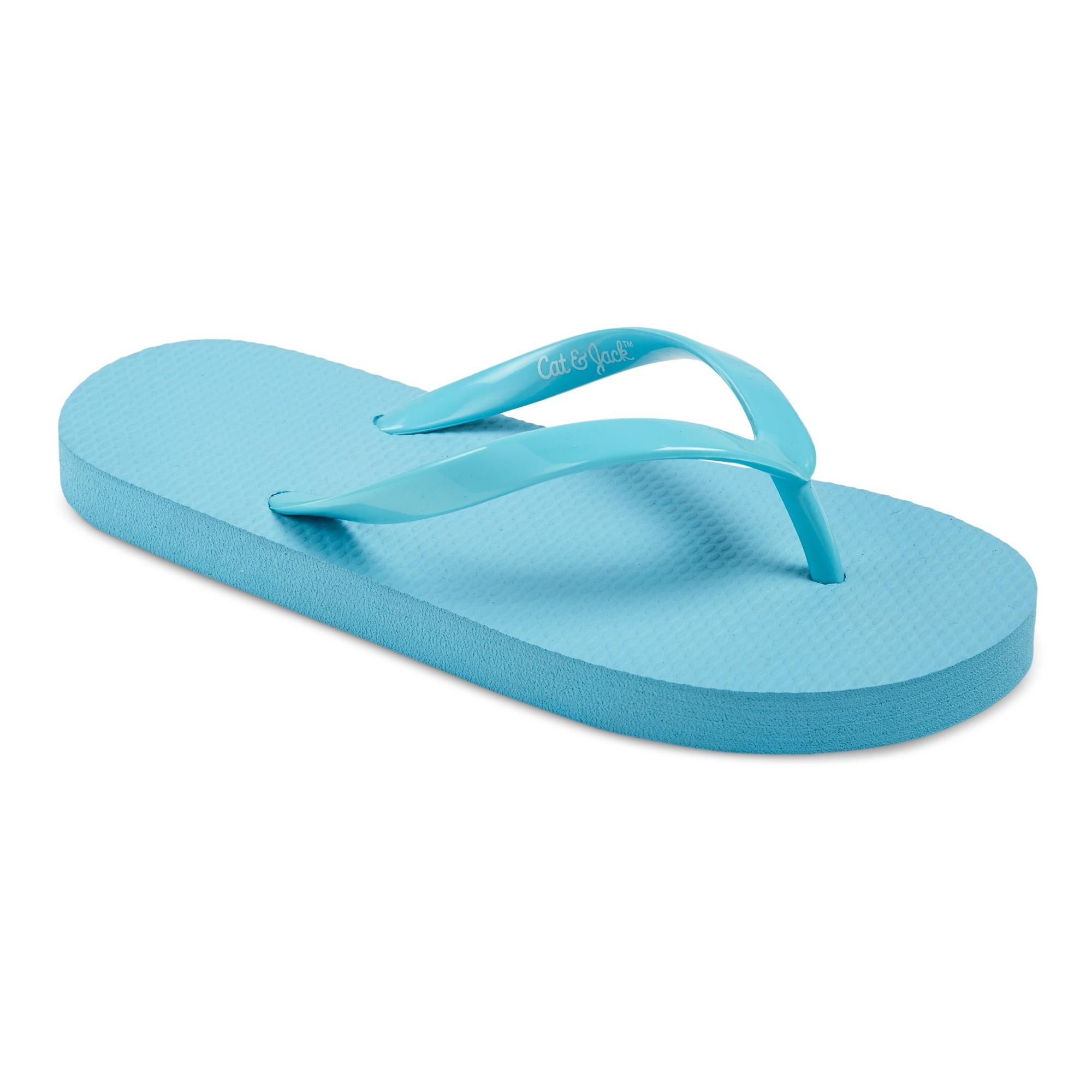 86418a507ce Girls  Hilary Flip Flop Sandals Cat   Jack - Turquoise XL