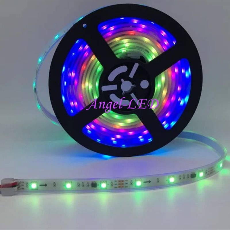 Colored Led Light Strips Adorable 240Leds 80Ic Rgb Ws2811 Digital Led Strips 5Metersreel  Ws2811 Led