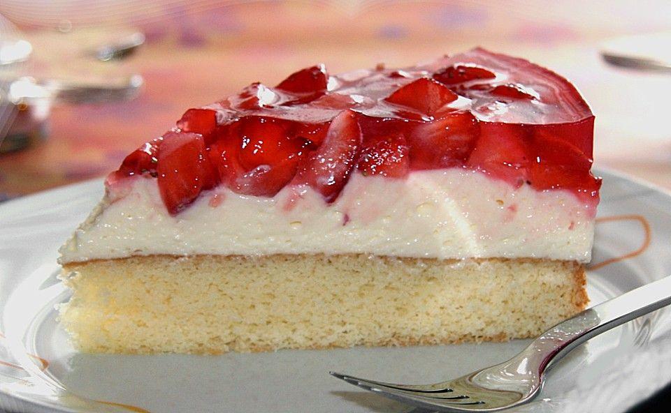 Erdbeer kuchen creme