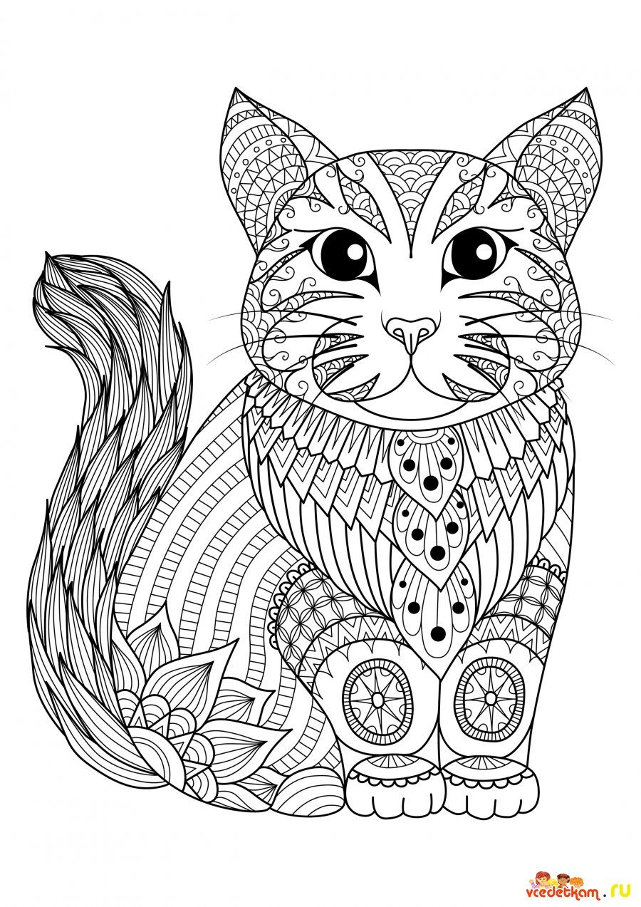 Pin By Ashley Perry On Rozkraski Animal Coloring Pages Cat Coloring Page Zentangle Animals [ 1273 x 900 Pixel ]