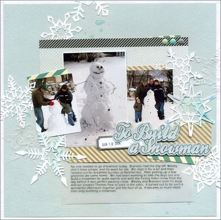 Samantha Walker's Creative Crafter's January Blog Hop! - To build a Snowman by Nicole Stark