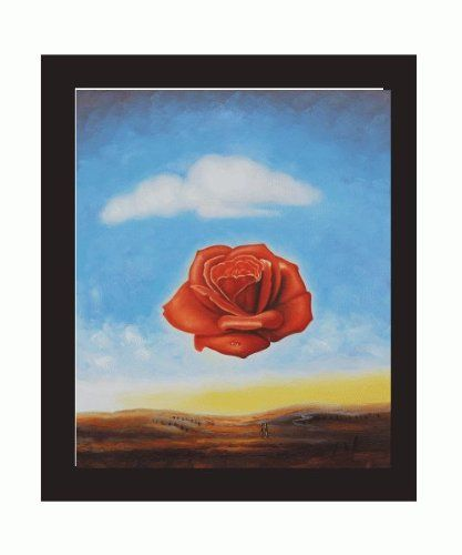 Meditative Rose  by Dali   Giclee Canvas Print Repro