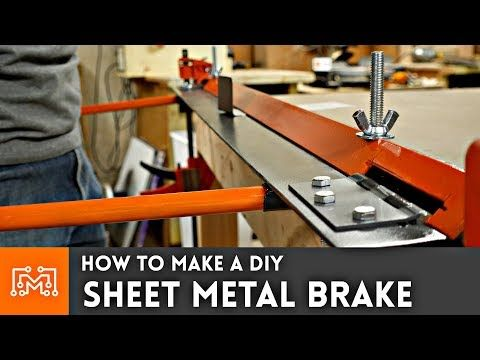 How To Build A Small Sheet Metal Brake Sheet Metal Brakes Are Machines Designed To Make Bending Thin Metal In Sheet Metal Brake Sheet Metal Sheet Metal Bender
