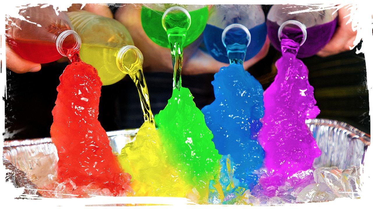 How To Make Rainbow Instant Ice Youtube Video Tutorials