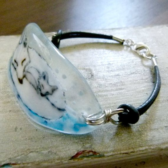 Easier than a completely fused glass bracelet - no measuring!