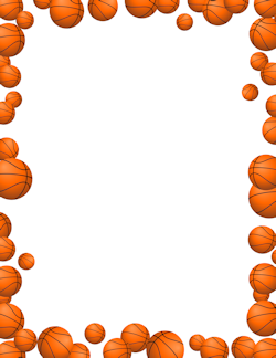 Free Page Borders And Frames Page Borders Free Basketball Basketball Party
