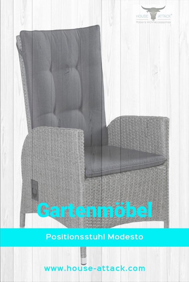 Lc Garden Positionsstuhl Verstellsessel Modesto Dining Grau