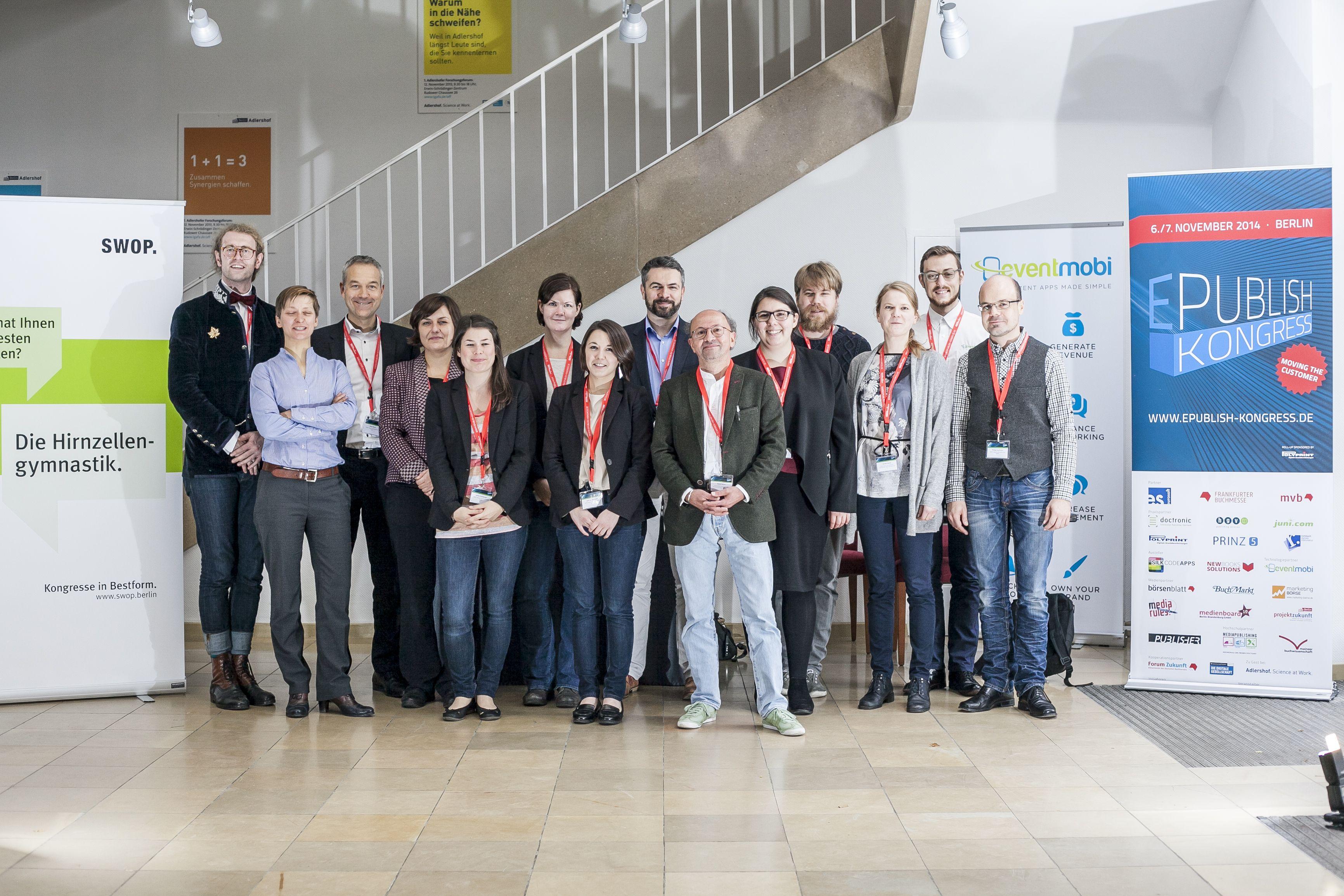 Danke an alle Referenten,Teilnehmer und alle anderen Beteiligten für ein erfolgreiches E:PUBLISH 14!
