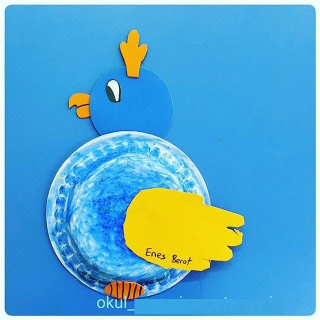 paper plate parrot craft | paper plate crafts for children can make ...