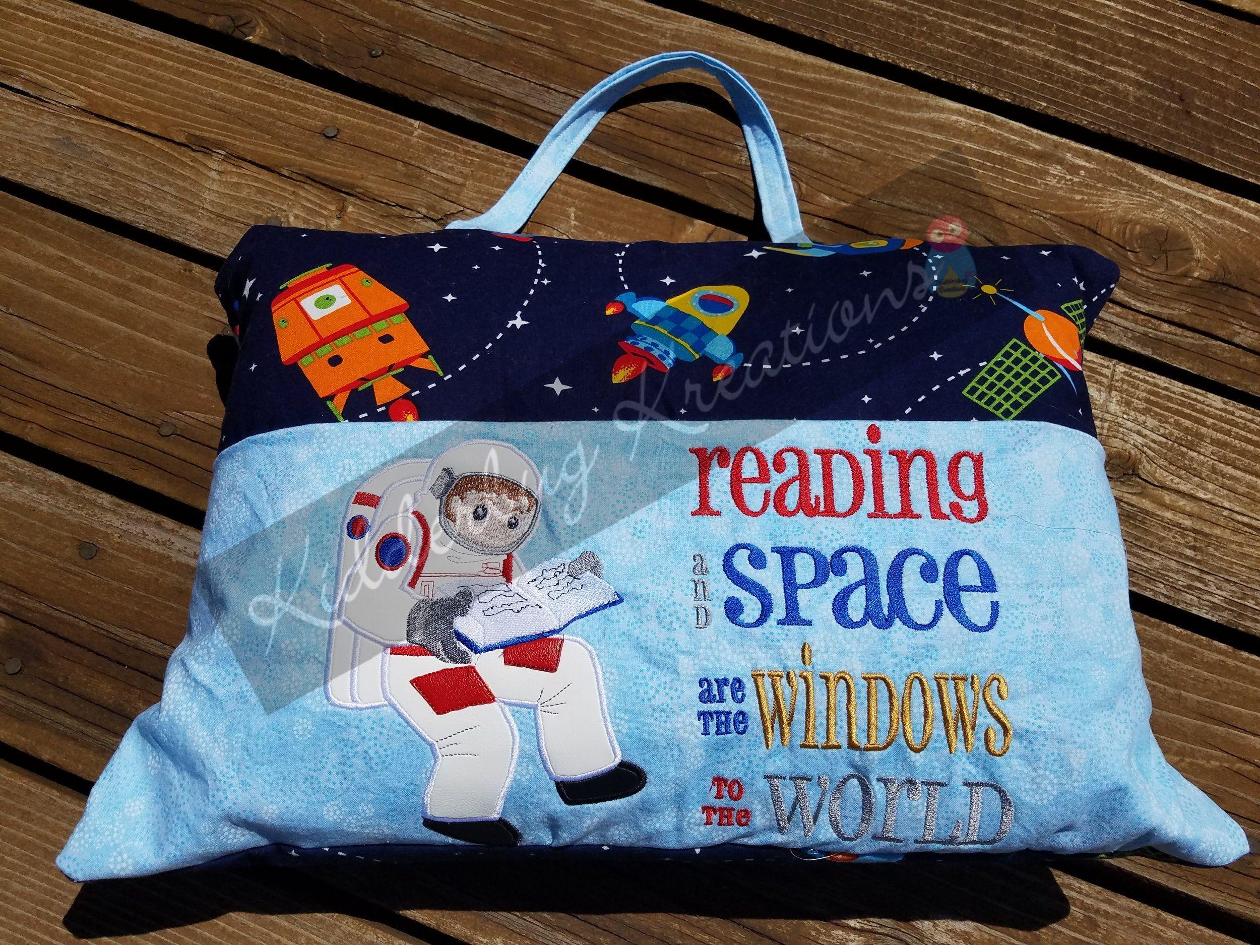 Reading Pillow Pocket Astronaut