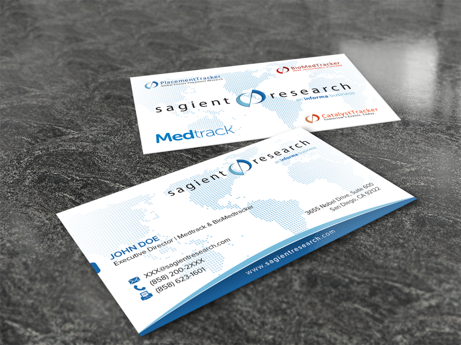 freelance Create new business cards for global pharma/investment ...