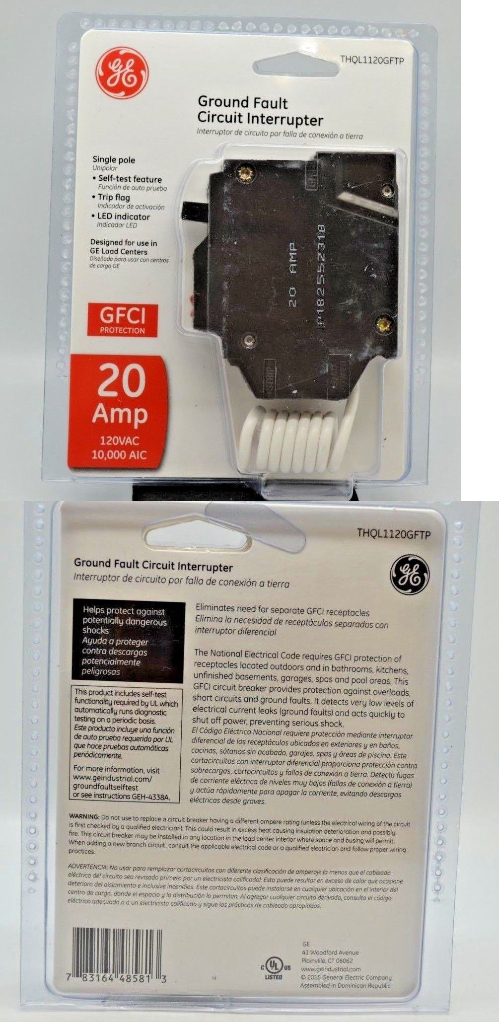 Circuit Breakers and Fuse Bo 20596: Ge Gfci Circuit Breaker ... on led fuse, ceiling fan fuse, dc fuse, heater fuse, power fuse, receptacle fuse, combination fuse,